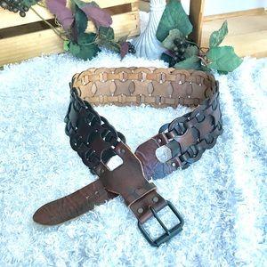 Banana Republic boho style wide leather belt